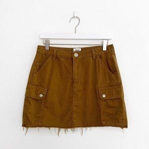 UO BDG Cut Off Cargo Mini Skirt